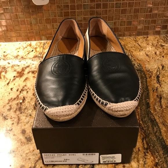 557522e2091 Gucci Shoes - 💯 GUCCI Canvas Leather  Pilar  Espadrille Flats